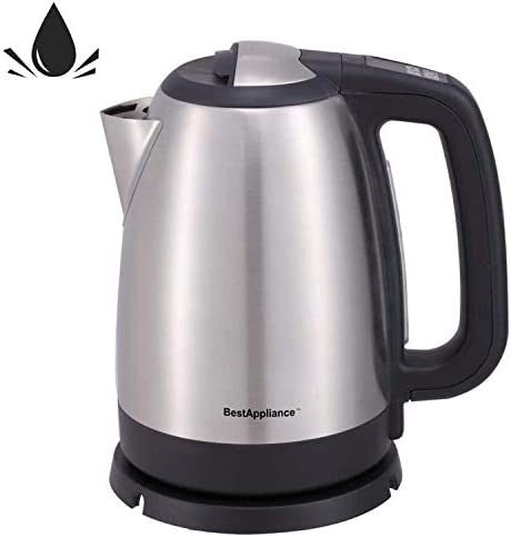 Electric Kettle Stainless Steel Fast Boiling Tea Kettle Cordless Water Kettle 1500W Electric Hot Water Kettle with Auto Shut-Off Boil-Dry Protection Tea Heater1.7 Liter 1.8 Quart