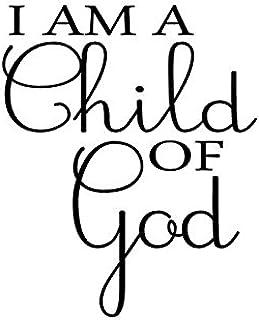 I am a Child of God Vinyl Christian Wall Decal Vinyl Wall Art  sc 1 st  Amazon.com & Amazon.com: Newclew I am a child of God Christian removable Vinyl ...