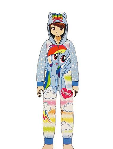 My Little Pony Rainbow Dash Girls Fleece Blanket Sleeper Hooded PJ Blue 8