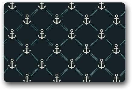 "CozyBath Anchor Non-woven Fabric 23.6""(L) x 15.7""(W)Machine-washable Indoor/Outdoor/Shower/Bathroom Doormat"