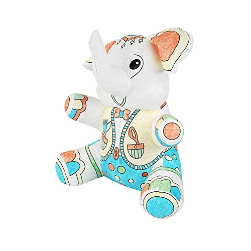 - Sytle-Carry Animal Coloring Kit Arts Craft - Toddler Handmade Creative Parents Child Interactive Large Stuffed Animal Painting Toys for Kids Adults