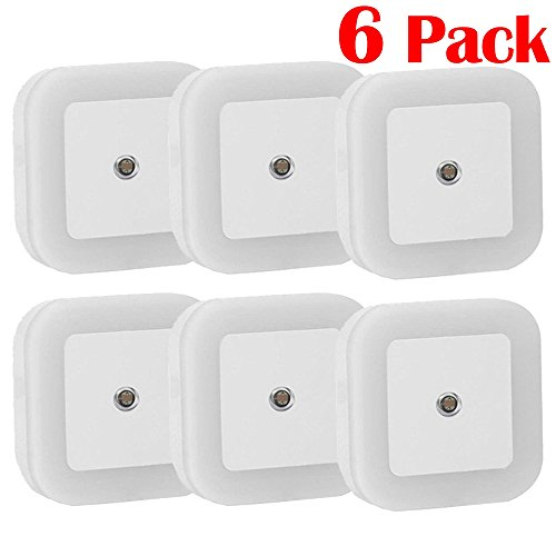 [Magicmoon 0.8W Plug in LED Night Light Lamp with Sensor, White, Pack of 6] (Where Does Halloween Come From)