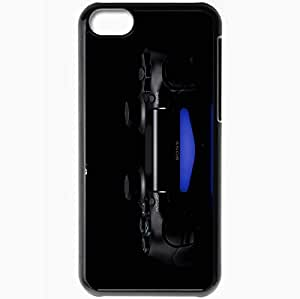 Personalized iPhone 5C Cell phone Case/Cover Skin Playstation 4 Black