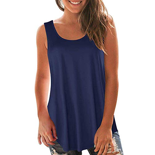 - Toponly Tank Tops For Women Casual Scoop Neck Sleeveless Crop Cami Tops Tee Shirts Blouses Vest Racerback T Shirt