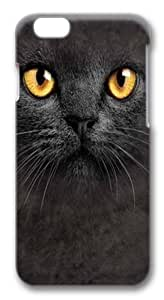 Big Face Black Cat Polycarbonate Hard Case Cover for iphone 6 plus 5.5 inch 3D