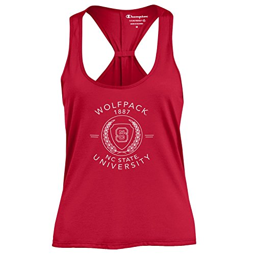 Girl Silouette (Champion NCAA Women's Swing Silouette Racer Back Tank Top NC State Wolfpack X-Small)