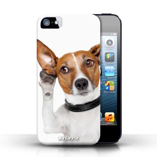 iChoose® Print Motif Coque de protection Case / Plastique manchon de telephone Coque pour Apple iPhone 5/5S / Collection Animaux comiques / Chien curieux