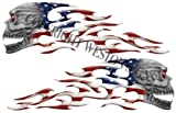 American Flag Motorcycle Gas Tank Tribal Skull Flames