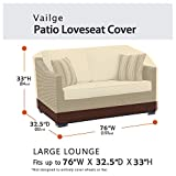 Vailge Heavy Duty Patio Bench Loveseat