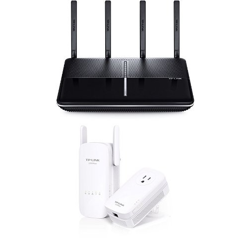 TP-Link AC3150 Wireless Wi-Fi Router and AC1200 Wi-Fi Range Extender, AV1200 Powerline Edition by TP-Link