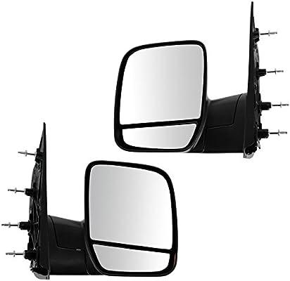 Black Folding Manual Side View Mirror Passenger Right RH for 02-08 Econoline Van
