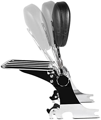 Respaldo Sissy Bar con portaequipaje desmontable para Harley Dyna Super Glide Custom 2005 cromo