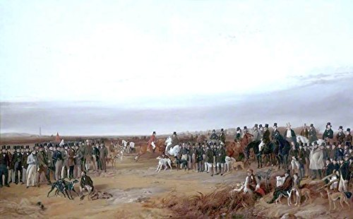 Cutler Miles The Waterloo Cup Coursing Meeting by Richard Ansdell Hand Painted Oil on Canvas Reproduction Wall Art. 36x24