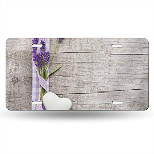 Jeepmother Lavender Bouquet 612inchs Feel Metal Tin Sign Plaque for Home,Bathroom and Bar Wall Decor Car Vehicle License Plate Souvenir Car Decoration