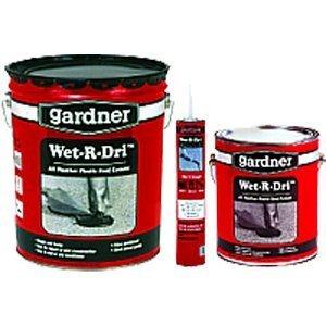 GARDNER-GIBSON GIDDS-441041 0371-GA Gardner Wet-R-Dri All Weather Plastic Roof Cement, 1 Gallon-441041, Black