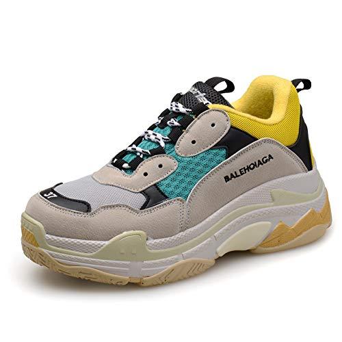 HOESCZS Chaussures Chaussures Femme, Chaussures, Printemps, Cuir Nouveau Casual Chaussures HOESCZS Femme 45|Light Gray Green b8ed51