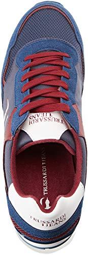 bordeaux De Chaussures Homme Gymnastique Trussardi U602 Jeans blue Running 7779 blu Bleu AqZwgOz