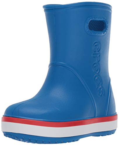 - Crocs Baby Crocband Rain Boot, Bright Cobalt/Flame, 7 M US Toddler