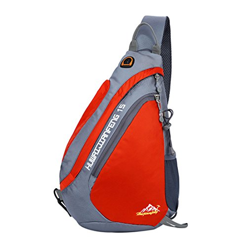 Sling For Hiking Backpack Orange Purse Camping Bags Shoulder Crossbody rqwnCxzrZB