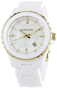 Michael Kors MK5249 - Reloj para mujeres, correa de plástico color blanco