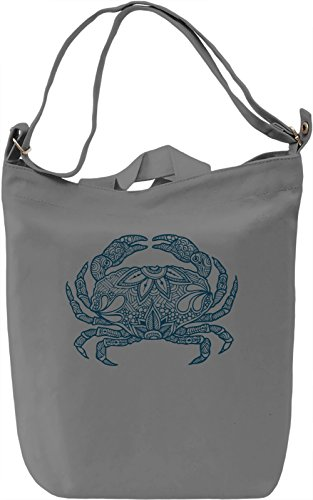 Crab Borsa Giornaliera Canvas Canvas Day Bag| 100% Premium Cotton Canvas| DTG Printing|