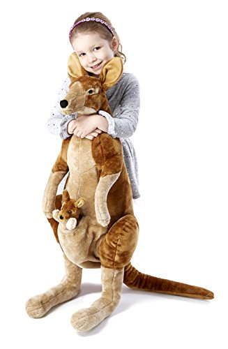 Melissa & Doug Giant Kangaroo and Baby Joey in Pouch - Lifelike Stuffed Animal (nearly 3 feet ()