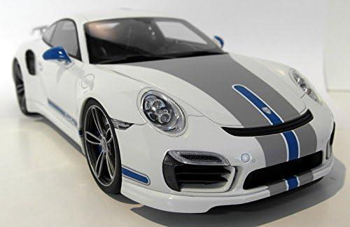 Porsche 911 991 Turbo S Techart Weiss Dekor Modellauto Fertigmodell Gt Spirit 1 18 Spielzeug