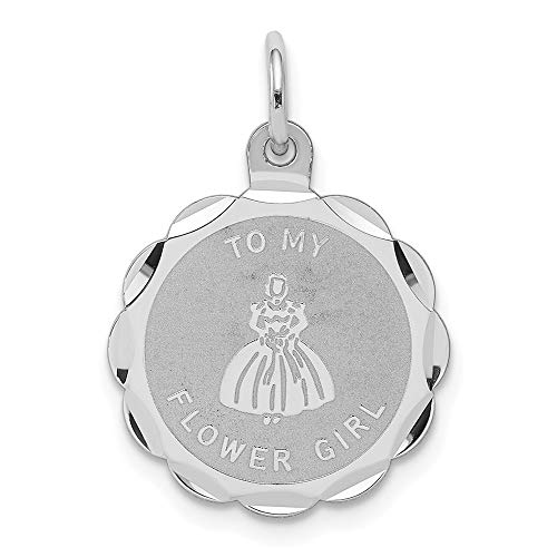 925 Sterling Silver To My Flower Girl Disc Pendant Charm Necklace Special Day Wedding Fine Jewelry Gifts For Women For Her
