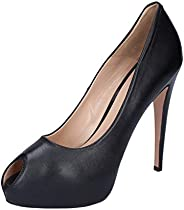 ALBANO Pumps-Shoes Womens Leather Black