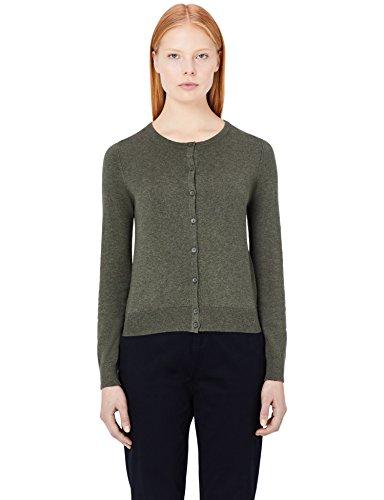 Cotone Verde MERAKI Cardigan Khaki Girocollo Donna TrT5qwI