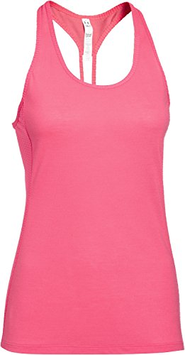 Under Armour Fly By Stretch Mesh - Camiseta de tirantes para mujer Rosa (Pink Shock)