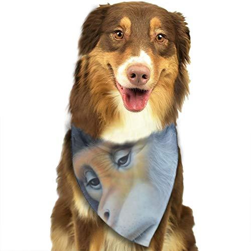 Pet Scarf Dog Bandana Bibs Triangle Head Scarfs Grey Monkey Accessories for Cats Baby Puppy ()
