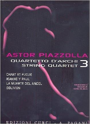 Amazon com: Piazzolla for String Quartet - Volume 3