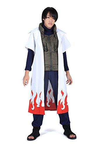 SDWKIT Naruto Shippuden Yondaime Hokage Namikaze Minato Outfit 1st Set