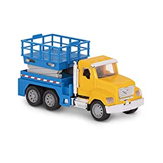Driven by Battat – Micro Scissor Lift Truck – Toy Truck with Movable Basket, Light & Sound Effects for Kids Aged 3+
