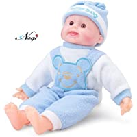 Negi Laughing Baby Stuffed Soft Plush Toy with Laughing Sound 37 cm ( Colour May Vary)