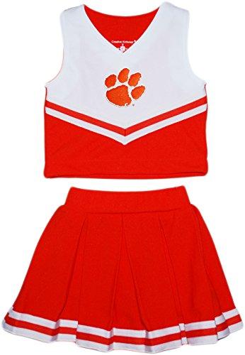 Cheerleader 2 Piece Dress (Clemson Tigers NCAA College 2-Piece Cheerleader Dress)