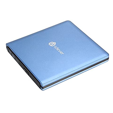 iClever USB 3.0 External DVD CD Drive, Faster Data Transfer CD/ DVD Burner for Apple Macbook Pro/ Air/ iMac and Other PC Laptop Desktop (Disk Hard Portable Slim 2tb)