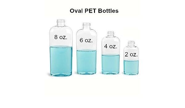 Amazon com: 2 Oz  Clear Plastic Pete Bottles Per Each: Home