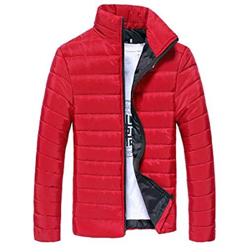 Stile Parka Cappuccio Con B M Jacket color Da Winter Semplice Trapuntato Down Size Warm Giacca rot Uomo 4wqI0nf8qz