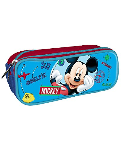Disney-Mickey Mouse Pencil Case with Zip 85x225x70mm, ast3897