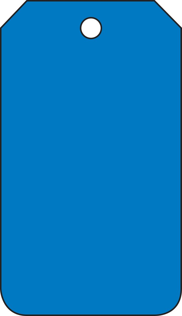 Blue Accuform MDT526CTM PF-Cardstock Solid Color Blank Tag 5.75 Length x 3.25 Width x 0.010 Thickness Pack of 5