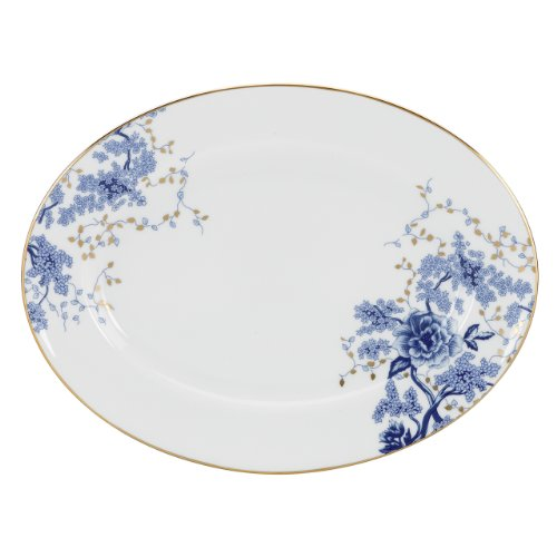 Lenox Garden Grove Oval Platter, (Blue Toile Canvas)