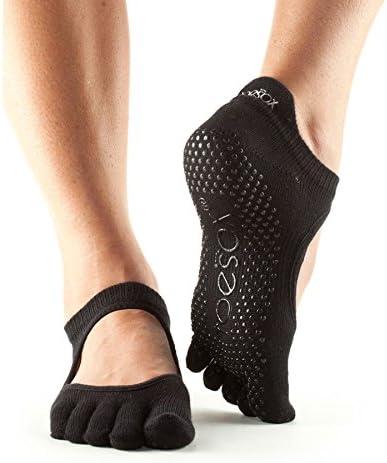 TALLA S. Toesox Full Toe Bellarina - Calcetines de Yoga Unisex adulto