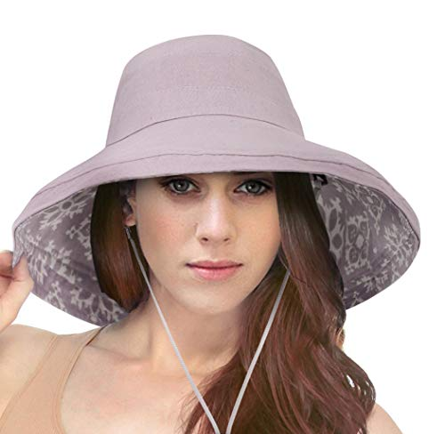Simplicity Women's UPF50+ Sun Hat Breathable Bucket Hat Summer Play Hat