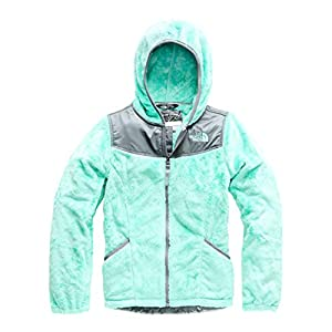The North Face Girl's OSO Hoodie - Mint Blue - M