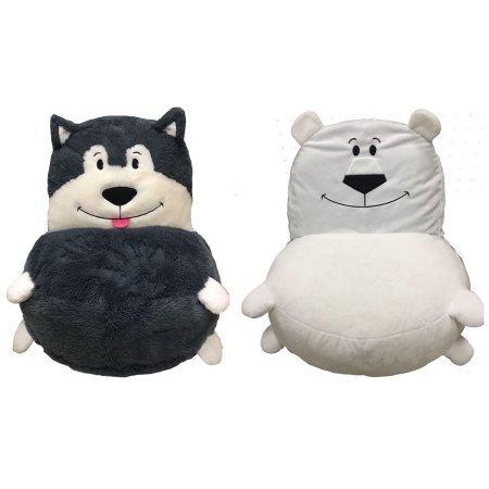 Flipazoo Plush Chair - Husky/Polar Bear