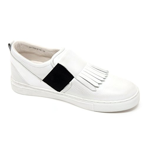 Bianco On Sneaker Donna B6598 London Crime Donna Scarpa Slip Shoe Frangia x4Xq8ta