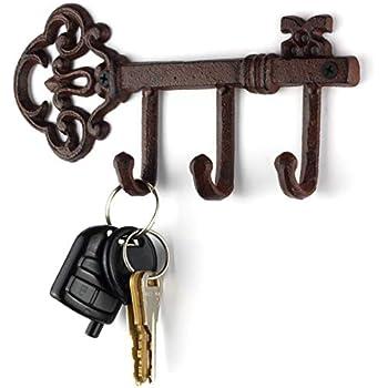 Amazon.com: LULIND - Soporte de pared para llaves rústico ...