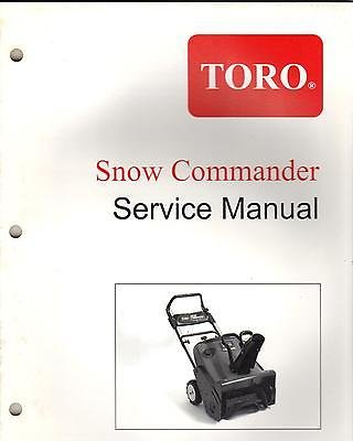 2001-2002 TORO SNOW COMMANDER SNOWTHROWER SERVICE MANUAL FORM 492-4739 ()